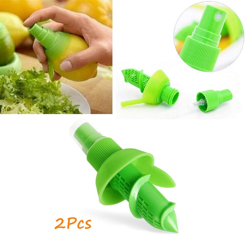 SmartRing 2pcs/Set Lemon Sprayer Kitchen Gadgets Orange Juice Citrus Spray Manual Fruit Juicer