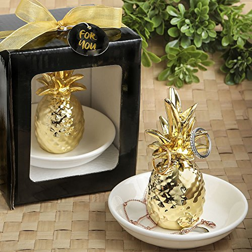 24 Warm Welcome Ceramic Pineapple Themed Ring and Jewelry Holders by Fashioncraft (Image #1)