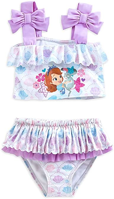 Disney Store Princess Sofia The First 2 Piece Swimsuit Girl Size 5//6