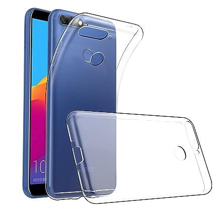GeeRic Für Huawei Y6 2018 Hülle Silikon, Ultra Thin Tasche Cover Schlank Weich Flexibel Anti-Kratzer Schutzhülle Abdeckung Ca