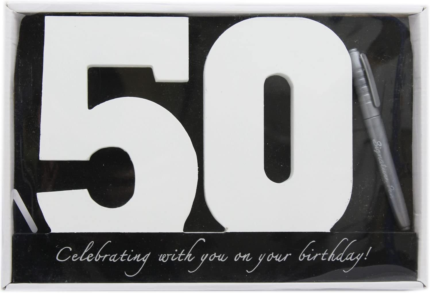 Wooden Birthday Signature Plaque ~ Happy 50Th Birthday Gift