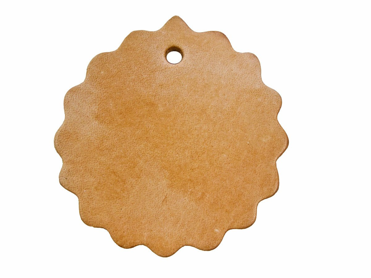 Springfield Leather Company 2'' Scalloped Concho with Hole- 25 pack