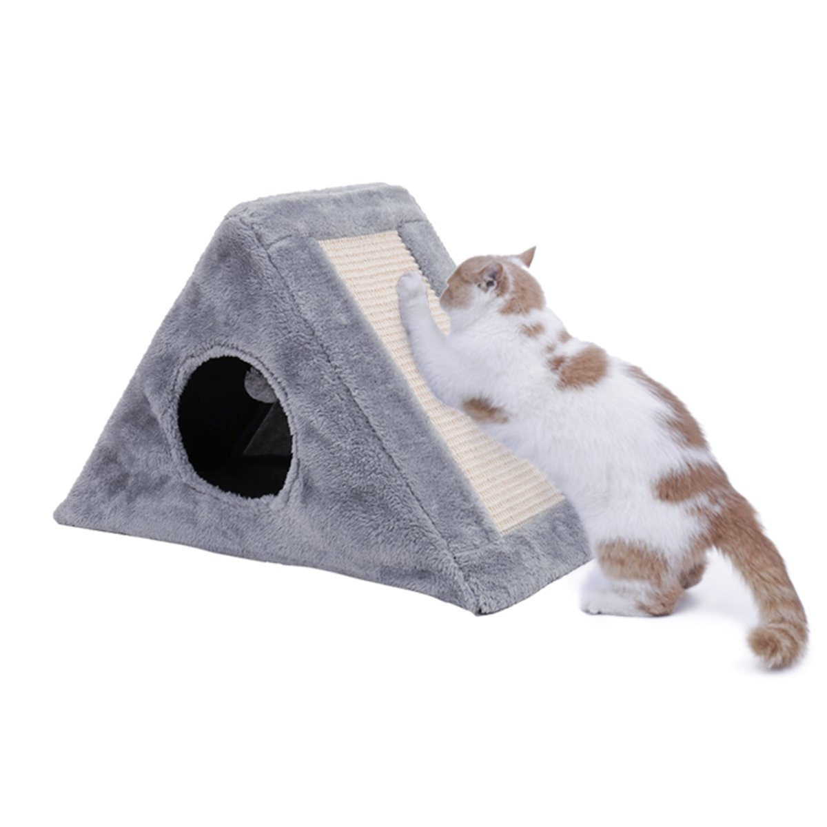PAWZ Road Cat Scratching Bed Kitten Tower with Scratching Board-Gray