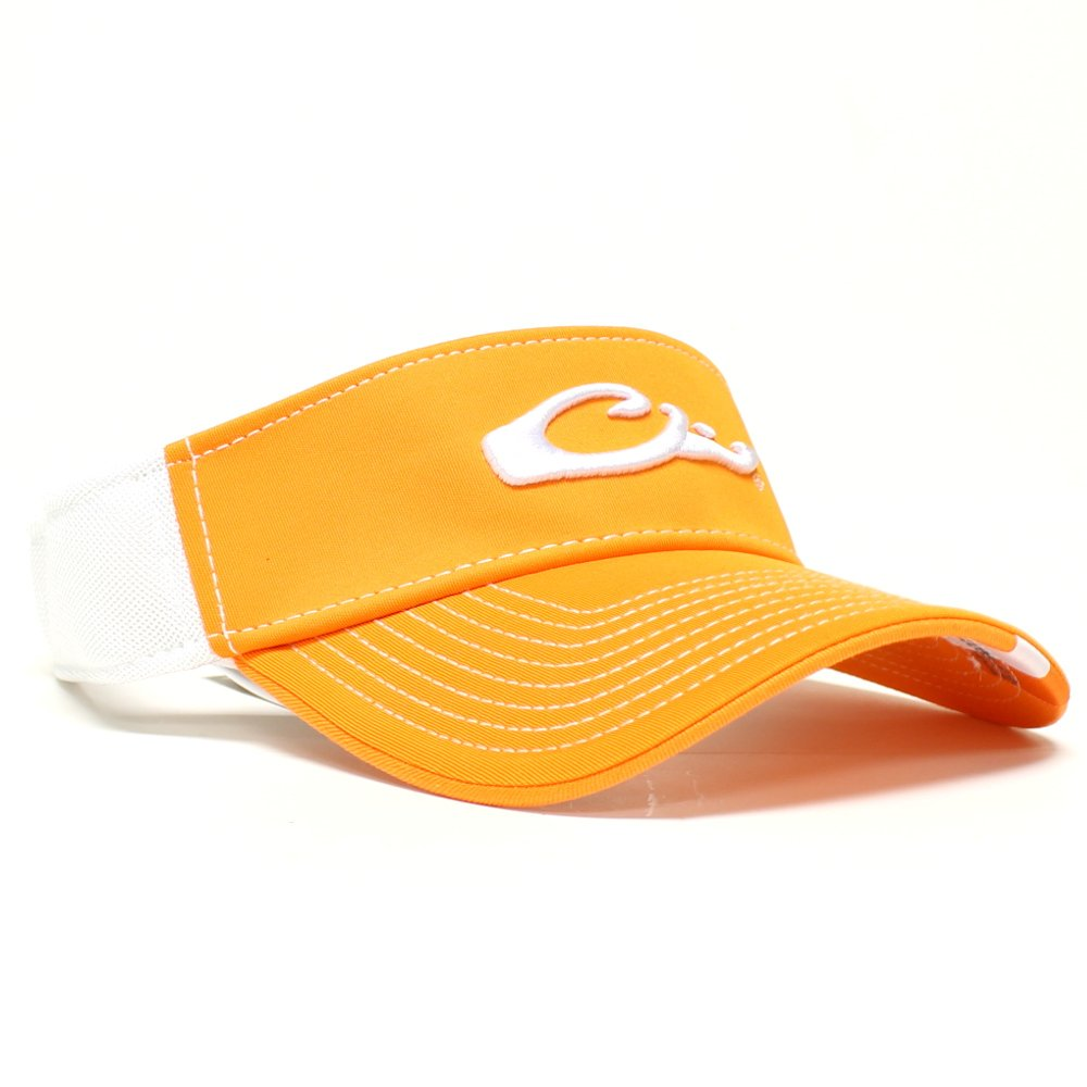 Drake Waterfowl Game Day Fitted Visor Tennessee Orange and White M/L
