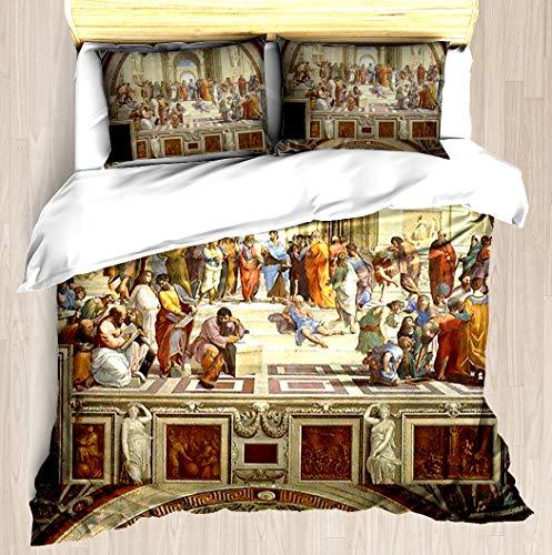 The School of Athens, Italian Renaissance, Artist, Raphael Duvet Cover Set Soft Comforter Cover Pillowcase Bed Set Unique Printed Floral Pattern Design Duvet Covers Blanket Cover - Twin/XL