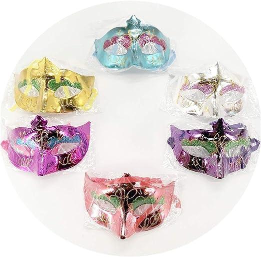Aulinx 6 piezas Máscara de carnaval Máscara de mujer Máscara ...