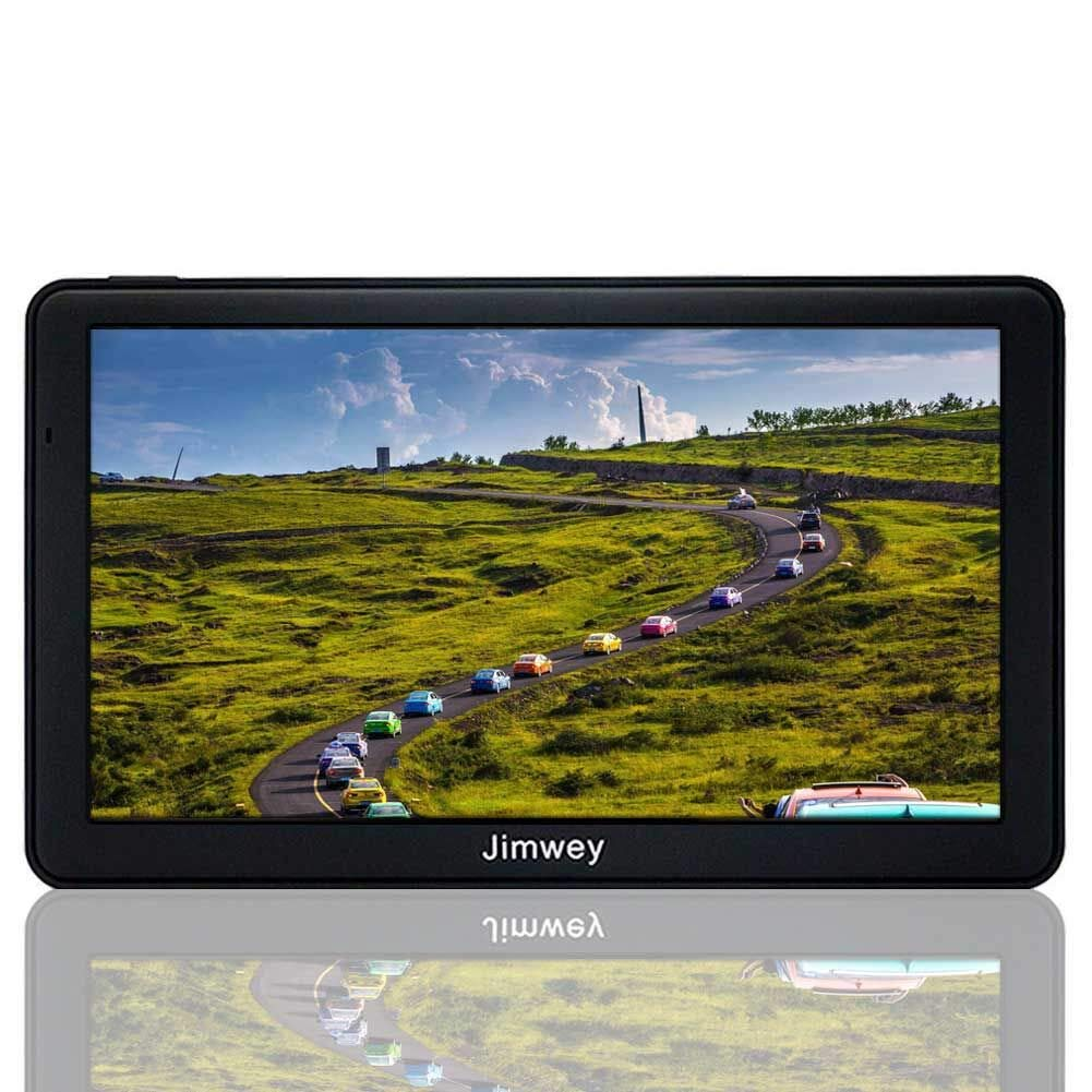 Navigation Systems for Car/Truck, Jimwey 8GB 256MB GPS Navigation for Car, Capacitive Touch Screen Pre-Loaded US/CA/MX Maps, Camera Alerts, Lifetime Free Map Updates (2019 Latest Maps) by Jimwey