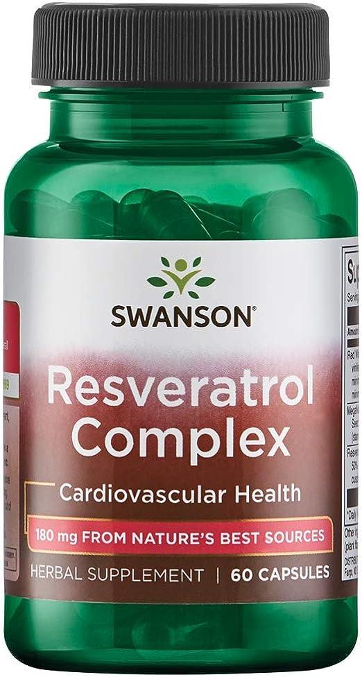 Suplemento Resveratrol Complexo 180 mg 60 cápsulas Swanson