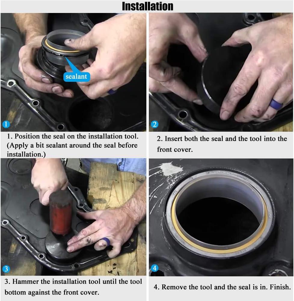 5046 Crankshaft Wear Sleeve Install Tool /& 1338 Front Cover Crankshaft Seal Installation Tool Fits for Cummins 3.9L 5.9L 6.7L Engines