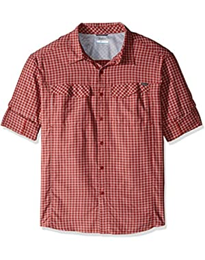 Men's Big-Tall Silver Ridge Plaid Long Sleeve Shirt, Rusty, 2X