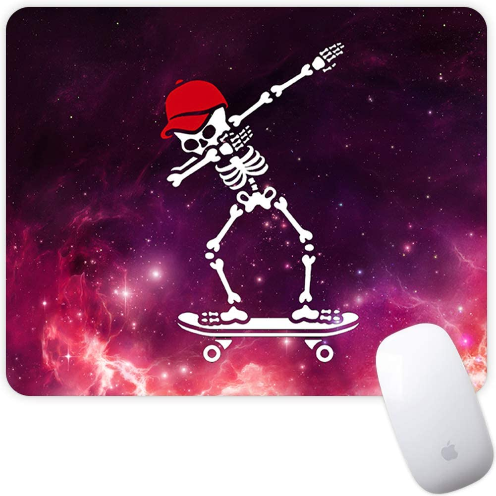 Marphe Mouse Pad Mousepad Non-Slip Rubber Gaming Mouse Pad Rectangle Mouse Pads for Computers Laptop (Red Hat Skateboard)