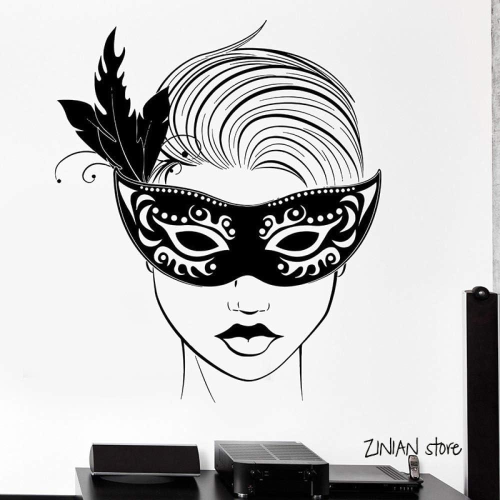 woyaofal Carnaval Máscara Mascarada Tatuajes de Pared Chica ...