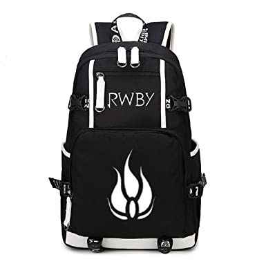 Anime RWBY Backpack Rucksack Black Canvas Knapsack Shoulder Bag (4 Styles)