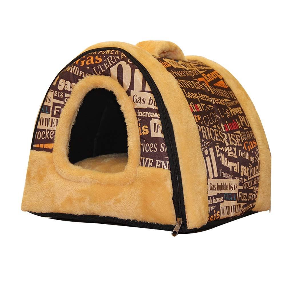 D 44x35x35cm D 44x35x35cm Pet house Pet Bed A Nest Dual Use Washable Foldable Soft Warm Detachable Cushion For Dog Cat Puppy Rabbit Pet Bed Hole (color   D, Size   44x35x35cm)