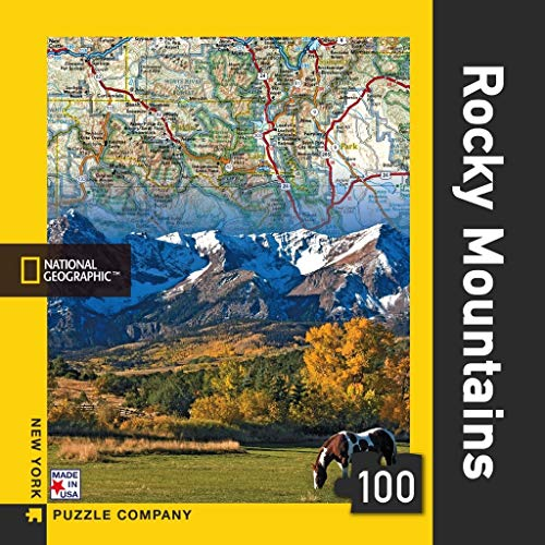 New York Puzzle Company - National Geographic Rocky Mountains Mini - 100 Piece Jigsaw Puzzle