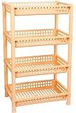 Logic Deluxe 4 Shelf Storage/Multi Purpose/Kitchen/Living Room/Rack - Peach