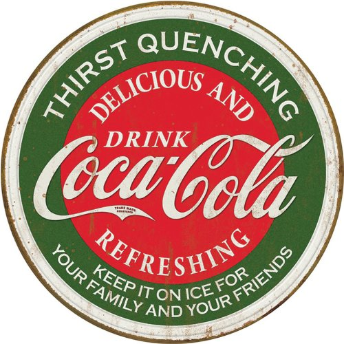 Coke - Thirst Quenching Tin Sign 11.75 X 11.75