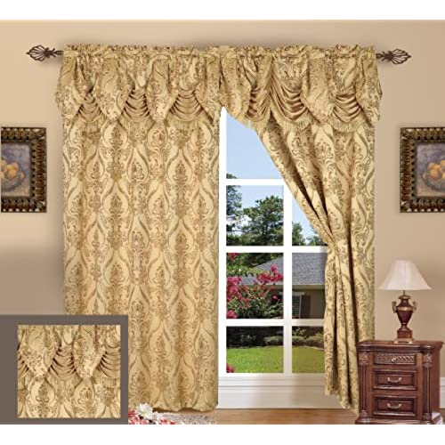 Living Room Curtains with Valance: Amazon.com