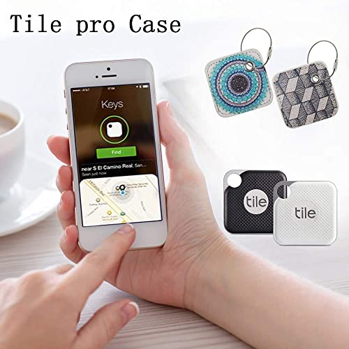 PAIYULE Case Compatible for Tile Pro 2020 2018 Combo 2017-Key Finder, Phone Finder, Anything Finder – Item Locator with Replaceable Battery – 2 Pack Galaxy,Geometry Cover Only