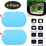 HEYUS [2 Pack] Car Rearview Mirror/Side Window Rainproof Film, Anti-Water/Anti-Fog/Anti-Glare/Anti-Scratch Mirror…