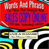 Words and Phrases for Those That Struggle with Sales Copy Online