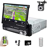 Car Stereo in Dash Single DIN 7 Inch HD Touch Digital Screen Head Unit Support Bluetooth GPS Mirror Link FM USB SD MP5 Hands-