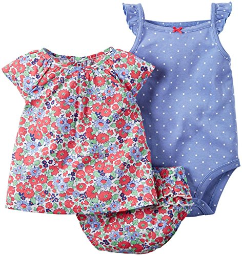 3 Piece Diaper Set (Carter's 3 Piece Diaper Cover Set, Red Floral, 12 Months)