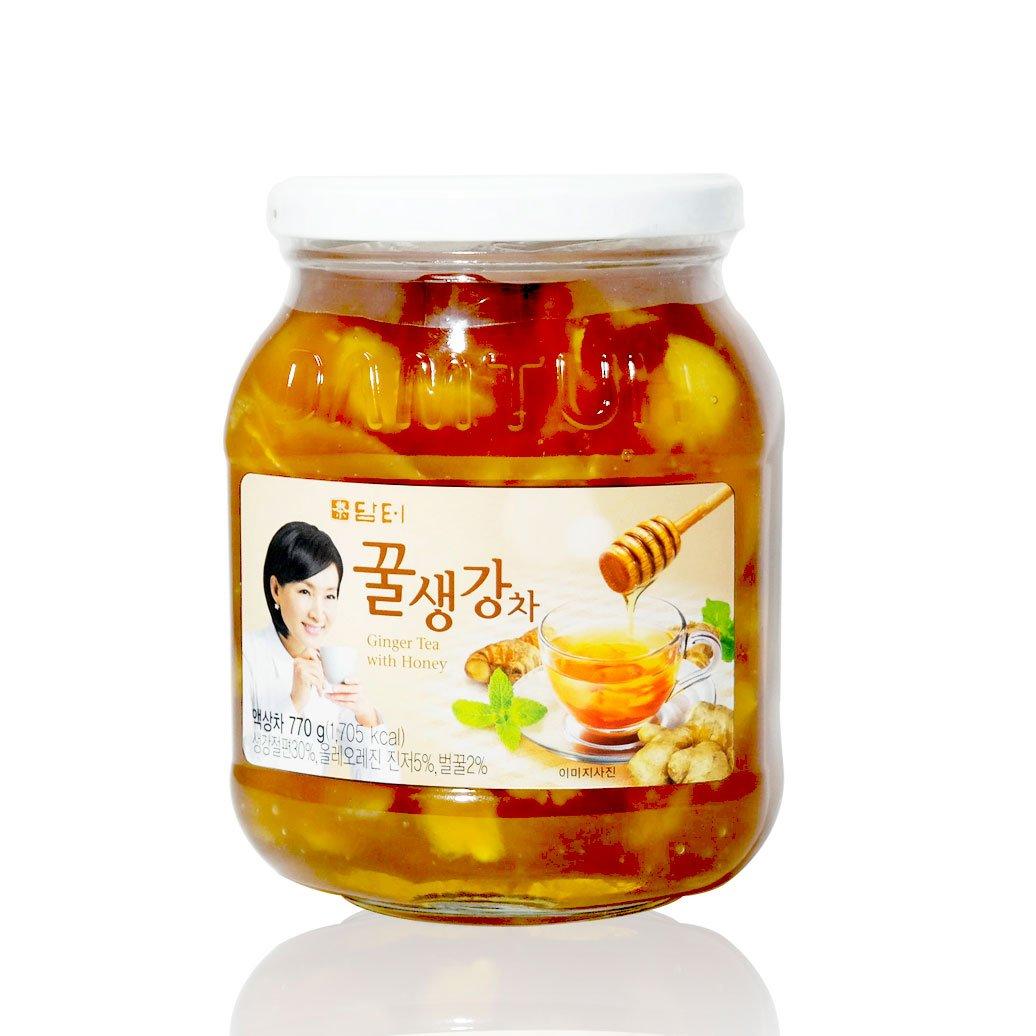 DAMTUH Honey Ginger Tea, Ginger with Honey, 27.16 Ounces, One Bottle (770g)