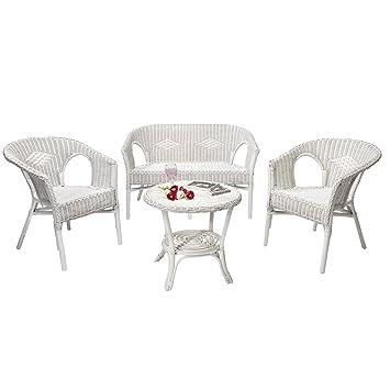 Rotin Design Soldes : -46% Salon d\'intérieur Chris Blanc en Osier ...