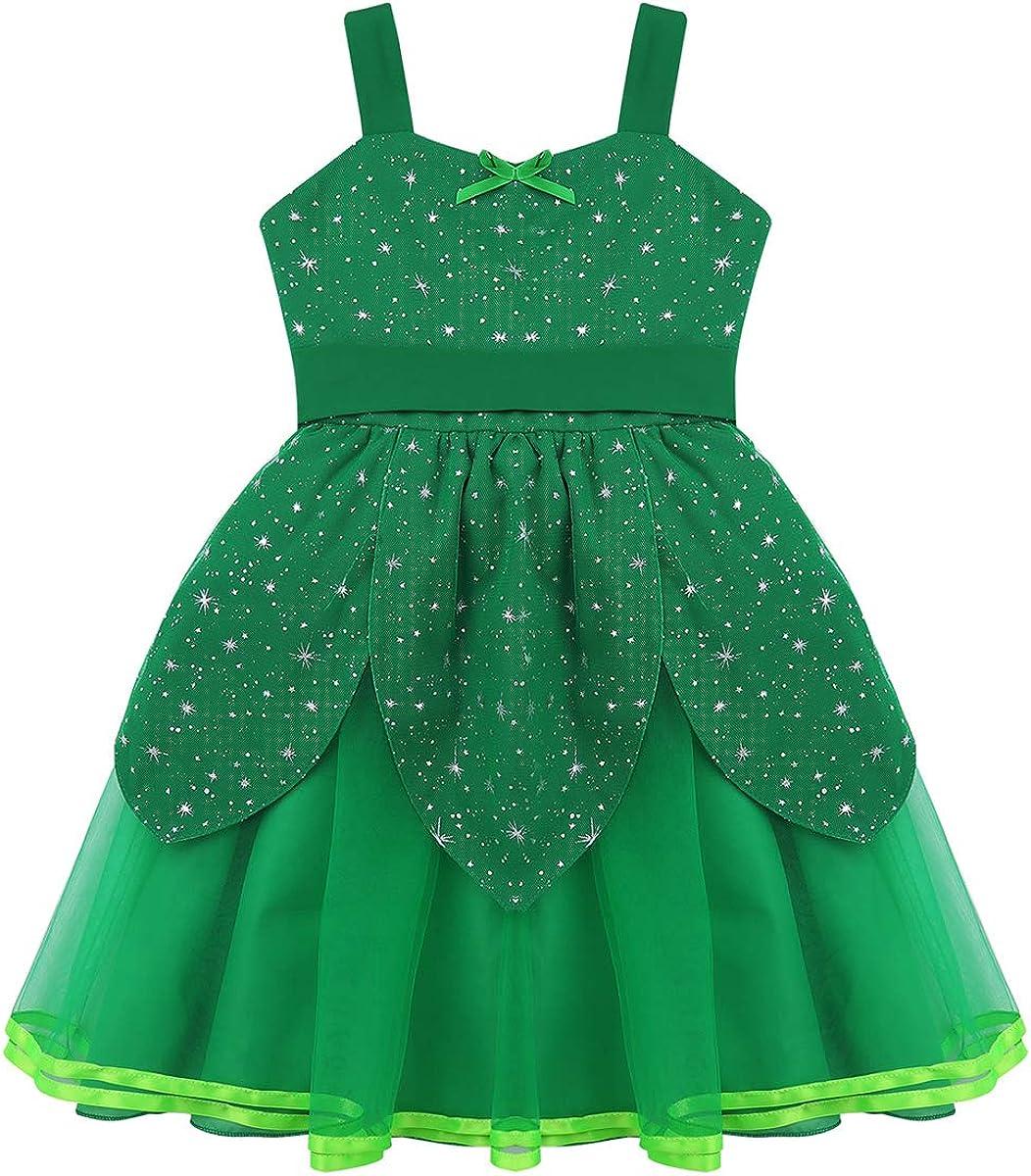 ranrann Disfraz de Hada Campanilla para Niña Brillante Vestido ...