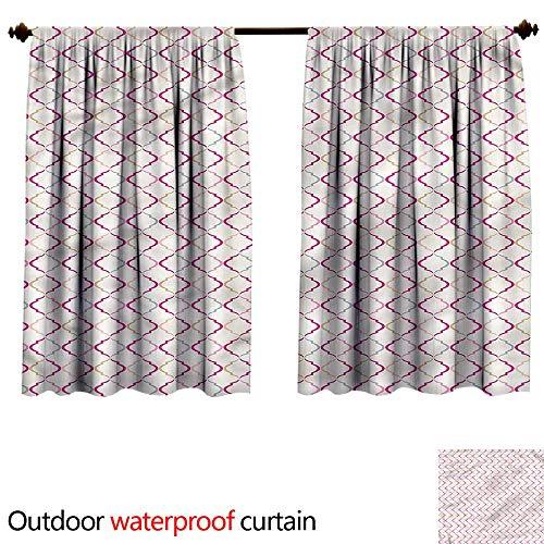 - BlountDecor UPF Outdoor curtainAnti-Water W55 x L45(140cm x 120cm) Trellis,Victorian Ancient Oval