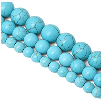 """Blue Turquoise Howlite 8mm Stone Loose Beads 15/"""" Strand FOR Jewelry Making"""