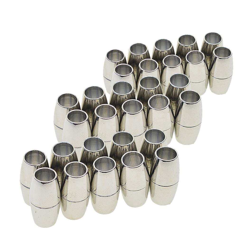 RainBabe Argentato Color Anello Regolabile Fit DIY Bottoni Taglia US 8/Confezione da Pezzi