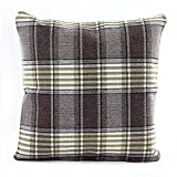 Decorative Pillow Cover - Famibay Square Tartan Cotton Linen Throw Pillow Case Cushion Cover 18 x 18 - Pillow cover Decorative (Color 6)