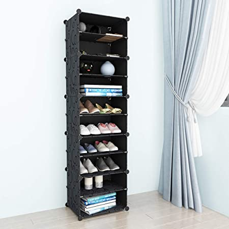 SIMPDIY Zapateros Estantería Zapatero Modular (1x10 41x32x155 CM) Zapatos Organizador para Zapatos Armario Zapatero: Amazon.es: Hogar