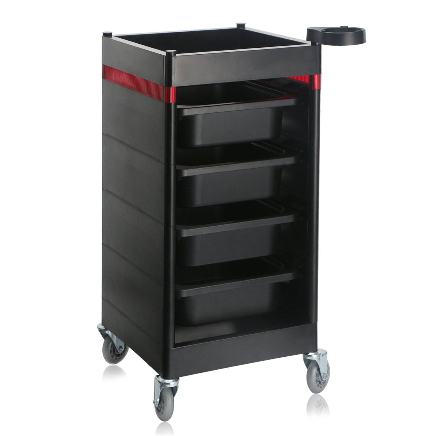 Segbeauty Storage Containers Utility Cart for Beauty Salon Spa Barber Shop, Drawer Organizer Trolley with Casters for Rolling, Manicure Pedicure Makeup Organizer Dolly
