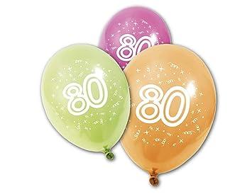 Generique - 8 Globos de cumpleaños 80 años