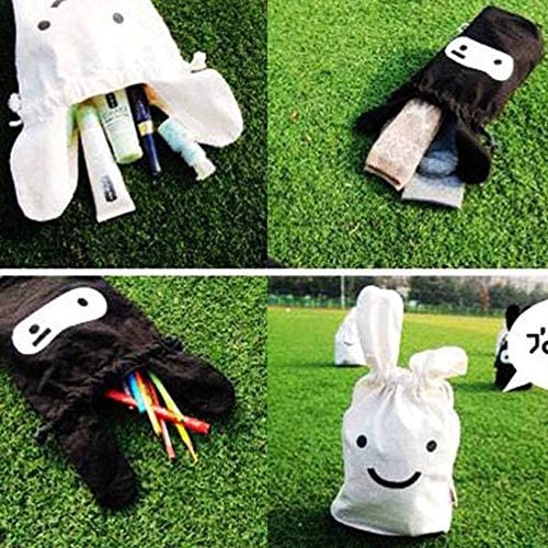 Florenceenid Cute Rabbit Drawstring Pouch Bag Storage Bag Travel Pouch Handy Snack Pouch