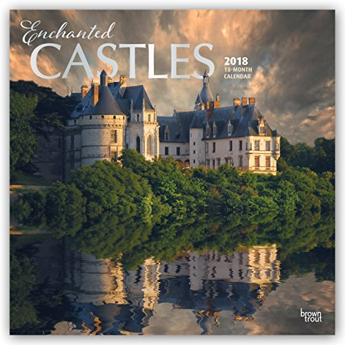 Enchanted Castles 2018 12 X 12 Inch Monthly Square Wall Calendar With Foil Stamped Cover, Travel Castles Places