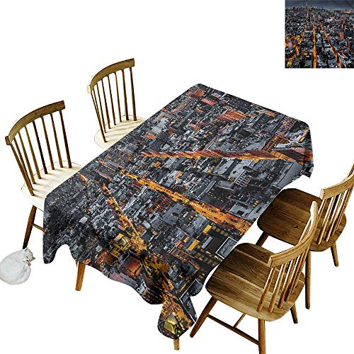 home1love Resistant Table Cover City Avenues to Midtown NYC Resistant/Spill-Proof/Waterproof Table Cover 60