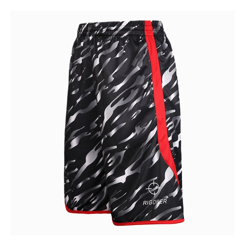 RIGORER Camouflage Reversible Basketball Jerseys for Men Basketball Shorts with Pockets