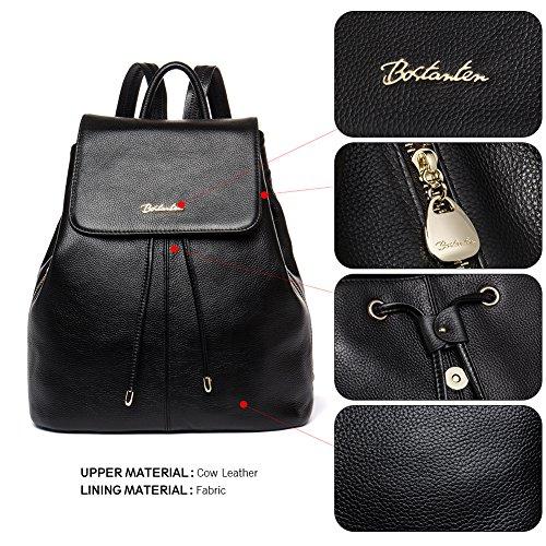 Bag Women Casual Bostanten Backpack Leather Newblue Ladies Handbags Rucksack Black School College Shoulder Purse Zfq1vBw