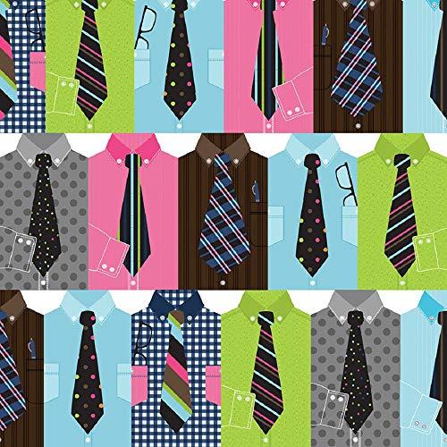 Handsome Gentleman Suit & Tie Gift Wrap Flat Sheet - 24