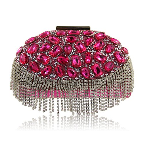 Clutches Party Evening Bags Rose Purses Bag Women Handbags Diamond Ladies Wedding qg4wxpt