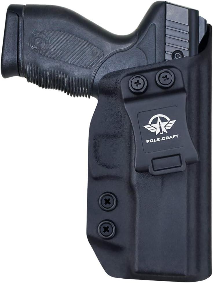 taurus 24 7 holster IWB Kydex Funda Custom Fit: Taurus 24/7 - 9mm / .40 Pistol - Cintura interior Transporte oculto - Adj. Retención de inclinación - Botón Mag superpuesto - Entrada ensanchada - Sin d