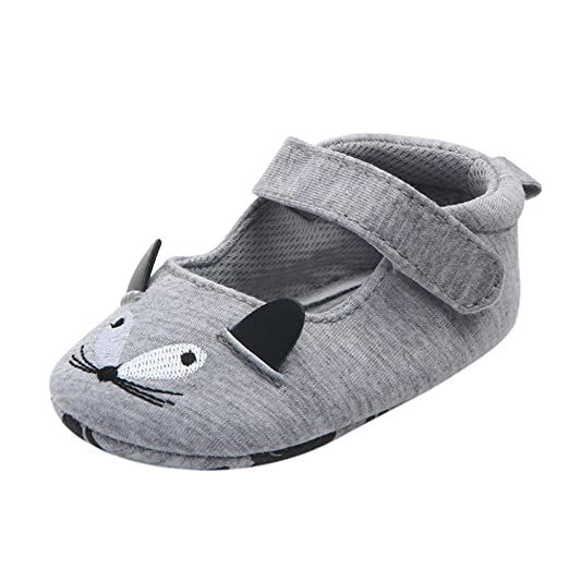 a61077be72f1 Digood Toddler Baby Kids Girls Boys Premium Cute Cartoon Mice Prewalker Anti -Slip Crib Shoes