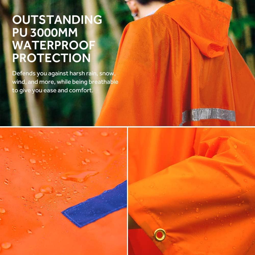 Ground Mat for Outdoor Activities Terra Hiker Multi-Functional Rain Poncho Sunshade Tarp