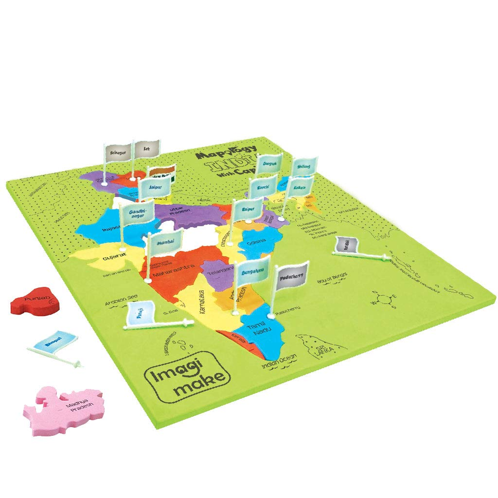 Imagimake Mapology India With State Capitals - Educational Toy And Learning Aid Puzzle-Jigsaw Puzzle product image