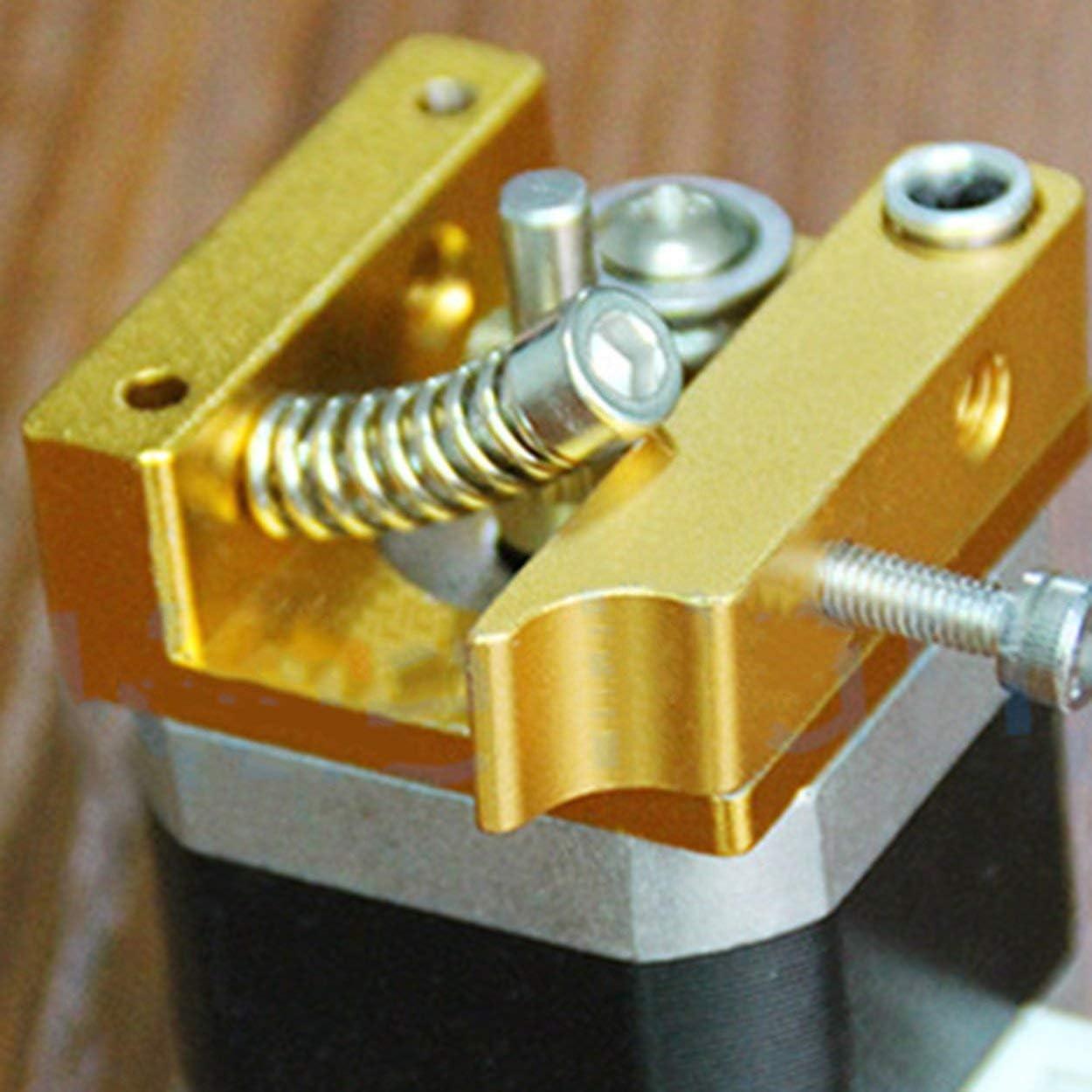 Lorenlli MK8 Extrudeuse en Alliage Daluminium Bloc pour Makerbot 3D Imprimantes Pi/èces Professionnel Extrusion Pi/èces Gauche Main DIY Kit