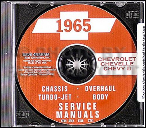 1965 Chevy CD Body & Repair Shop Manual Impala/Nova/Chevelle/El Camino/SS